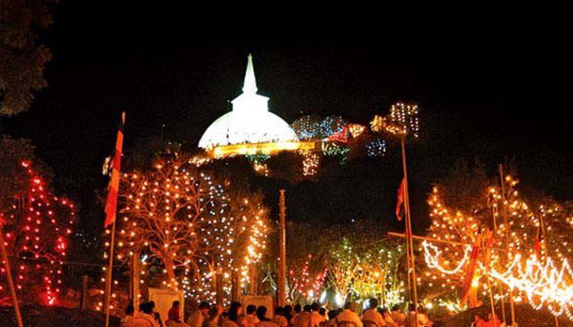 Mihintale Aloka Pooja for five days